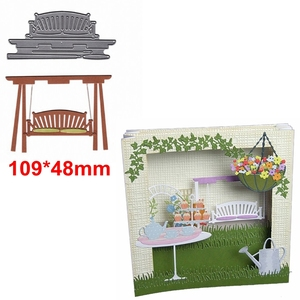 Swing Chair Die Cuts For Card Making Delicate Swing Chair dies scrapbooking metal cutting dies new 2019
