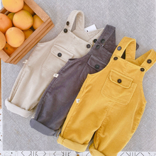 Pants Overalls Children's Girls Baby And Boys Solid Loose Corduroy Casual