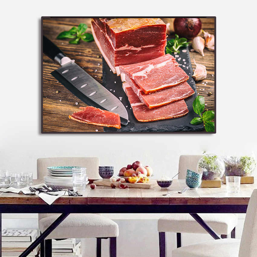 Makanan Lukisan Roti Rempah-rempah HD Poster Kanvas Seni Dinding Modern Gambar untuk Dapur Ruang Makan Fashion Seni Dekorasi Rumah