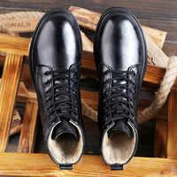 2019 Autumn Winter Men Boots Vintage Style Casual Men Shoes Lace-Up Warm Boots