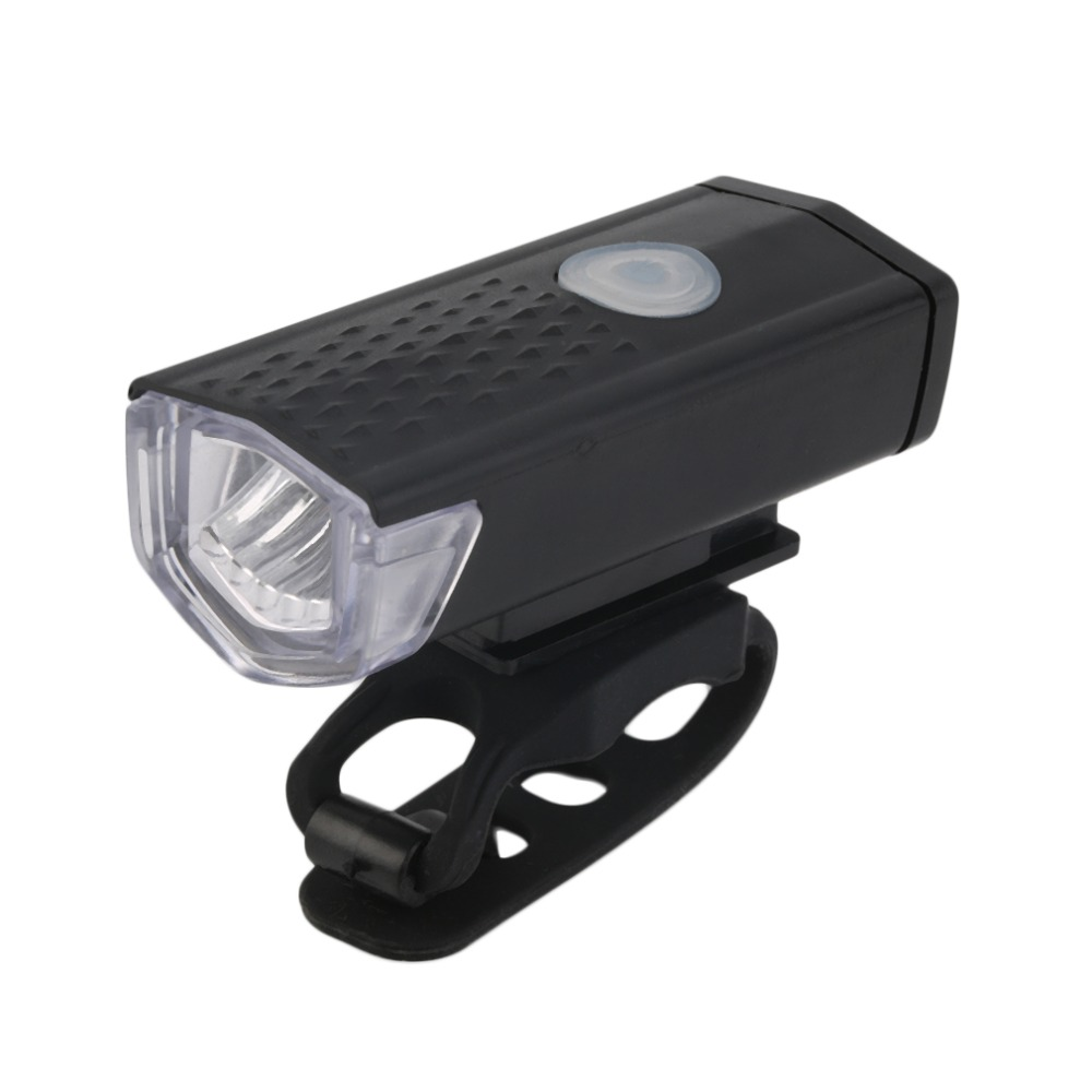 USB Rechargeable Bike Head / Front White Light Lamp Black Bicycle Cycling new arrival title=