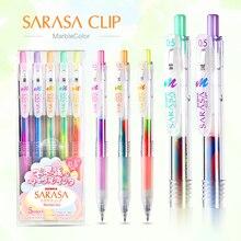 JIANWU 5 teile/satz Japan Zebra drei farbe Regenbogen gel stift JJ75 Farbe marker stift 0,5mm journal gemischt farbe student