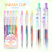 JIANWU 5pcs/set Japan Zebra three color Rainbow gel pen JJ75 Color marker pen 0.5mm journal mixed color Student