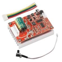 цена на Brushless Dc Motor Speed Controller 6-50V Three-Phrase Sensorless Board 12V 24V Bldc Motor Driver Regulator 380W Pwm + Heat Sink