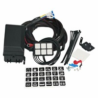 Mayitr 1 Set Black 6 Gang Switch Panel Waterproof Electronic Car Circuit Control System Relay Box With LED Light