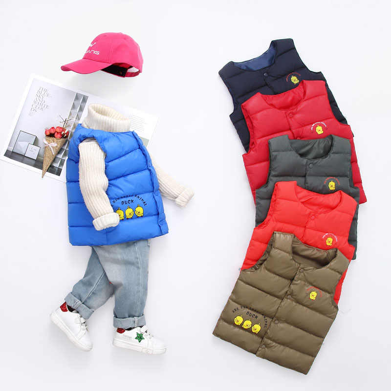 בני בנות בגדים מזדמנים 2019 חורף למטה מעיל לילדים קצר מעיילי ילדים סלעית לעבות חם כותנה מרופדת מעיל 2-7T