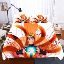 Home Textiles Bed Linen NARUTO Ropa De Cama Luxury Twin Size Sabanas King Bedding Set Kids Girls Poplin