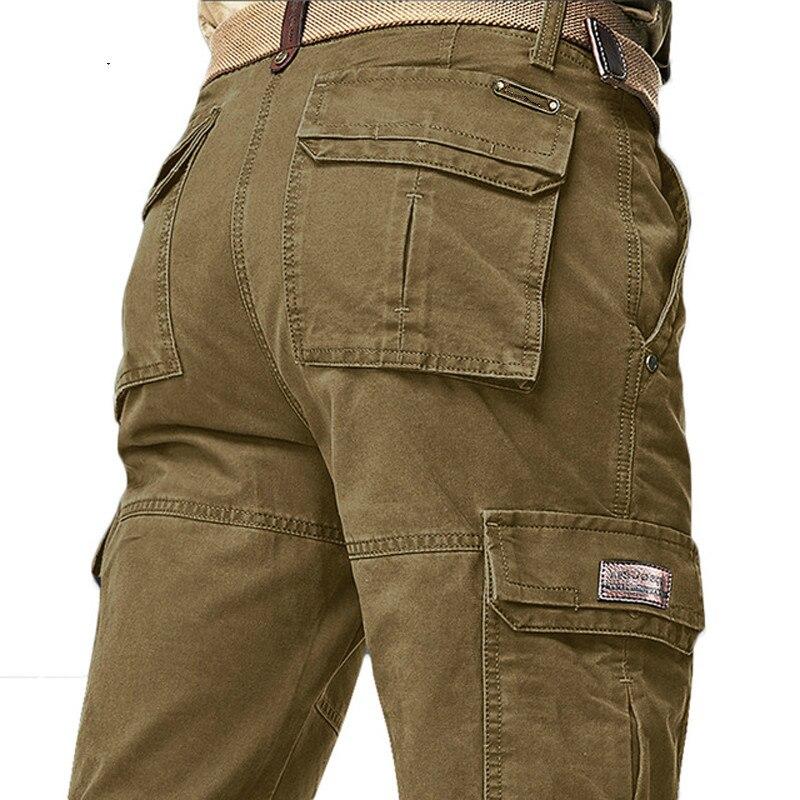 Brand Autumn Winter Cargo Pants Men High Quality Warm Long Military Pants Plus Size Pantalon Hombre Tactical Trousers