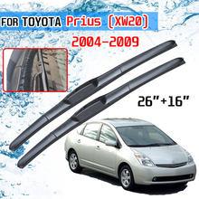 Para toyota prius 20 xw20 2004 2005 2006 2007 2008 2009 acessórios windscreen frente lâminas de limpador escovas cortador limpadores para o carro
