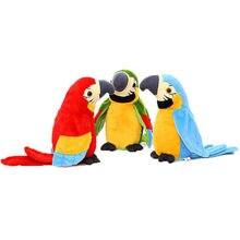 Brinquedos de pelúcia elétrica para crianças, pode aprender a falar, papagaio, fã, repetição, leitura, língua, gravação de voz, papagaio, bonecas para criança presente