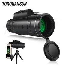 Монокулярный телескоп TOKOHANSUN 40X60, зум объектив для смартфона iPhone, объектив мобильной камеры с компасом для кемпинга, пешего туризма, рыбалки