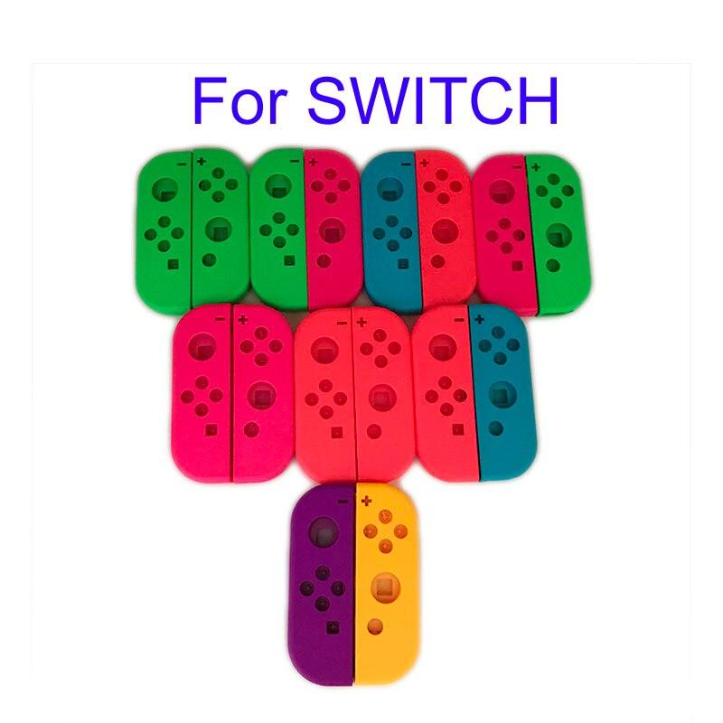 Original para Nintend Switch NS Joy Con cubierta de carcasa de repuesto para NX JoyCons Controller Case verde rosa blanco