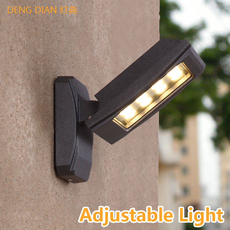 IP65 LED Outdoor Lighting Wall Lamp Waterproof Aluminum porch lights Garden wall light Glass shade 12W for aisle hallway balcony