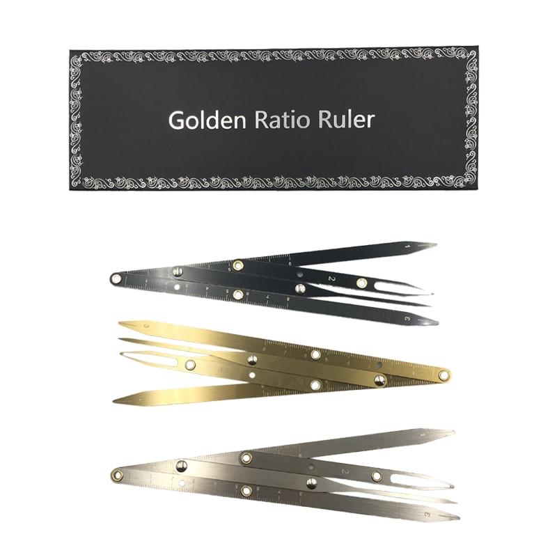 1pcs Permanent Makeup Eyebrow Ruler Golden Ratio Divider Caliper Microblading Stencil Shaping Tool Tattoo Accessories Supplies