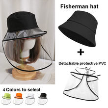 40# Unisex Anti-spitting Protective Hat Dustproof Cover Fishermen Removable Cap Droplets Protection Hat Tapa protectora(China)