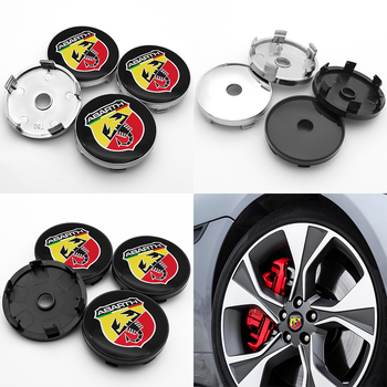 For Fiat- Abarth- 500 500x 595 1100 Stilo Ducato Palio 4pcs 60mm emblem Wheel Center Hub Caps Badge covers car accessories image