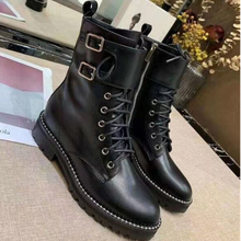 2019 zapatos Genuine Leather Fashion European Style Black Ankle Boots Flats Round Toe Zip Boots Lace Up Woman Ankle Boots Shoes цены онлайн