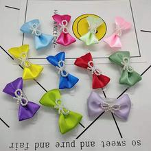 Little fresh bow hairpin Pet Grooming Accessories,puppy Summer hair Accessories pet dog clip