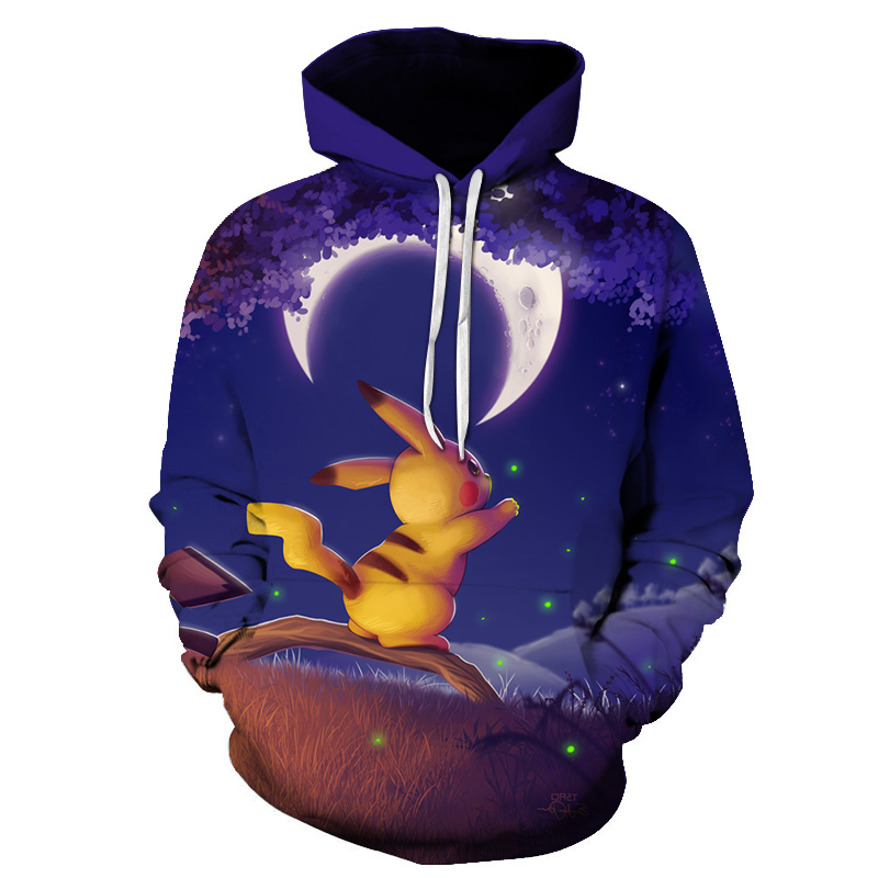New hot anime Pokemon team role-playing hoodie 3D printing high quality hooded sweatshirt autumn and winter hooded 5