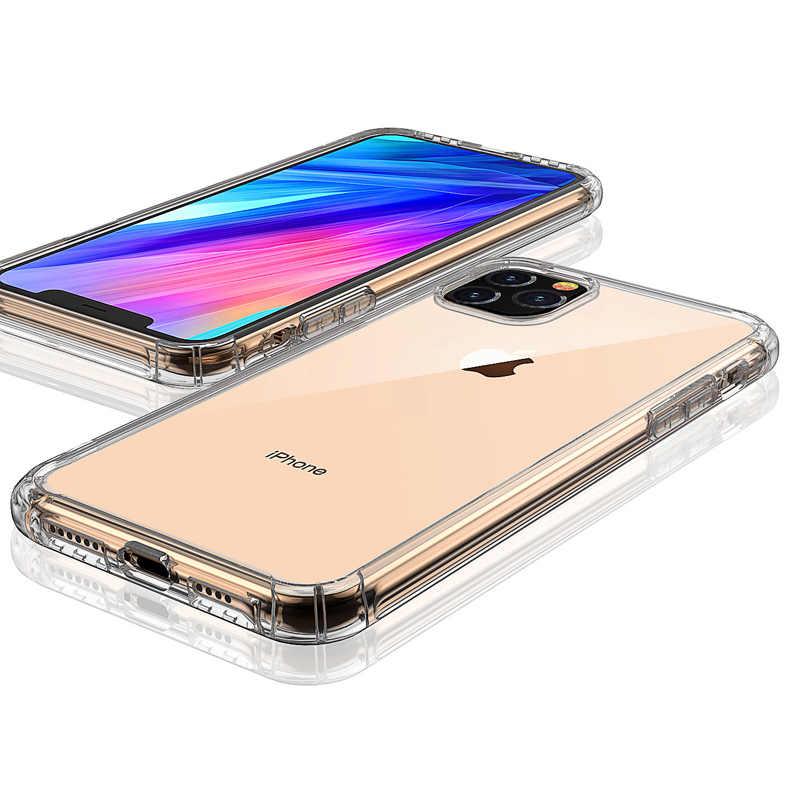 N1986N untuk iPhone 6 6 S 7 Plus X XR X Max 11 2019 11 Pro Ponsel Case Tahan Guncangan bumper Transparan Lembut TPU Case untuk iPhone Xi