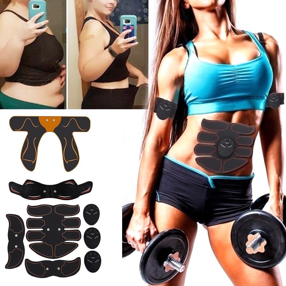 Перезаряжаемый стимулятор мышц Тренажер массаж EMS Abs фитнес-оборудование для брюшного пресса машина для похудения жир ожога тренировка бед...