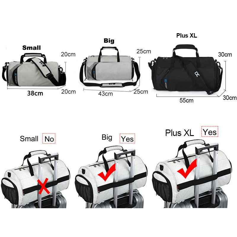 Купить с кэшбэком Men Gym Bags For Training Bag Tas Fitness Travel Sac De Sport Outdoor Sports Swim Women Dry Wet Gymtas Yoga Shoe 2020 XA103WA
