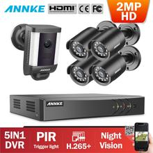 ANNKE 8CH 2MP HD Video Security Surveillance System With 4X Day Night Vision Bullet Camera 1X PIR Detection Spotlight CCTV Cam