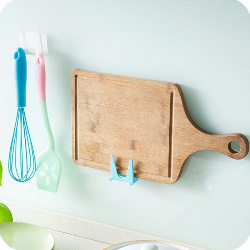 1 plastic double-sided glue pot cover storage wall-mounted kitchen rack multifunctional kitchen utensils