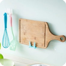 1 plastic double-sided glue pot cover storage wall-mounted kitchen rack multifunctional utensils