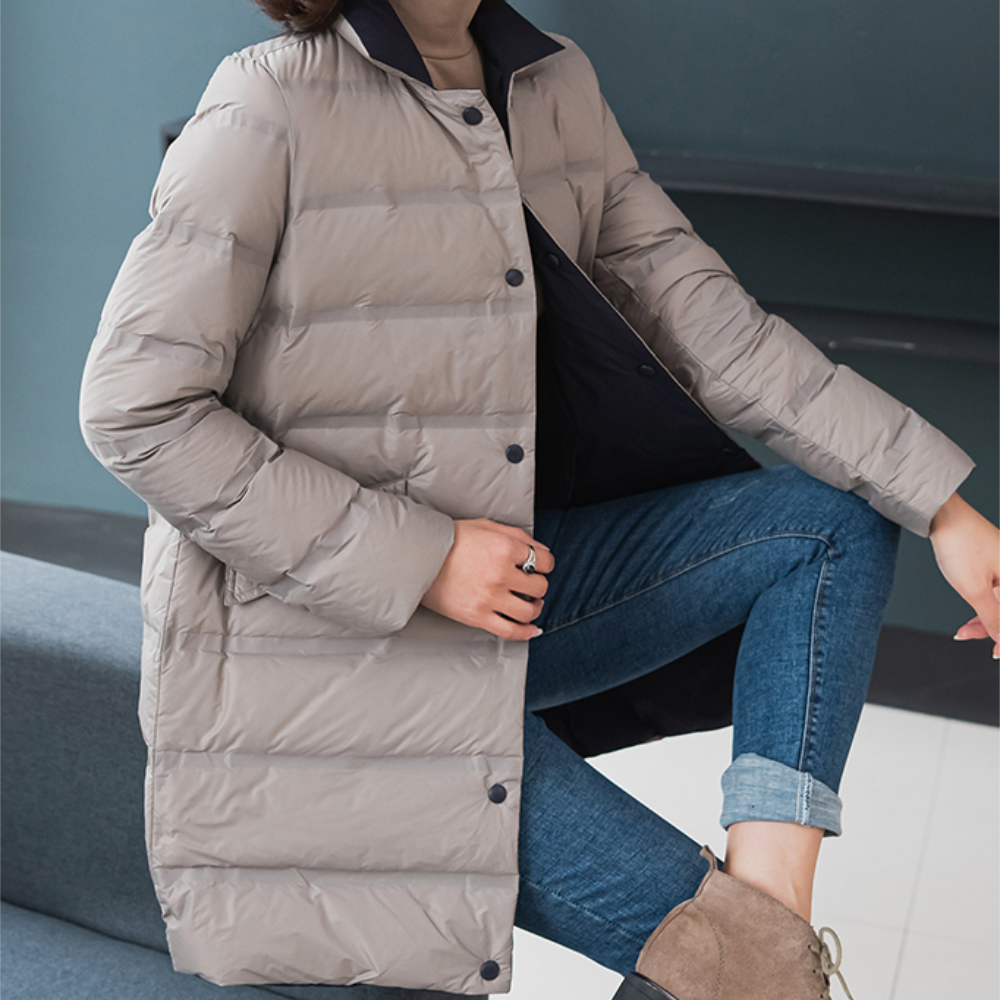 2020 fall/winter Japanese women lightweight down jacket, mid length, fashionable, slim, thin, two sided 90 down jacket|Down Coats| - AliExpress