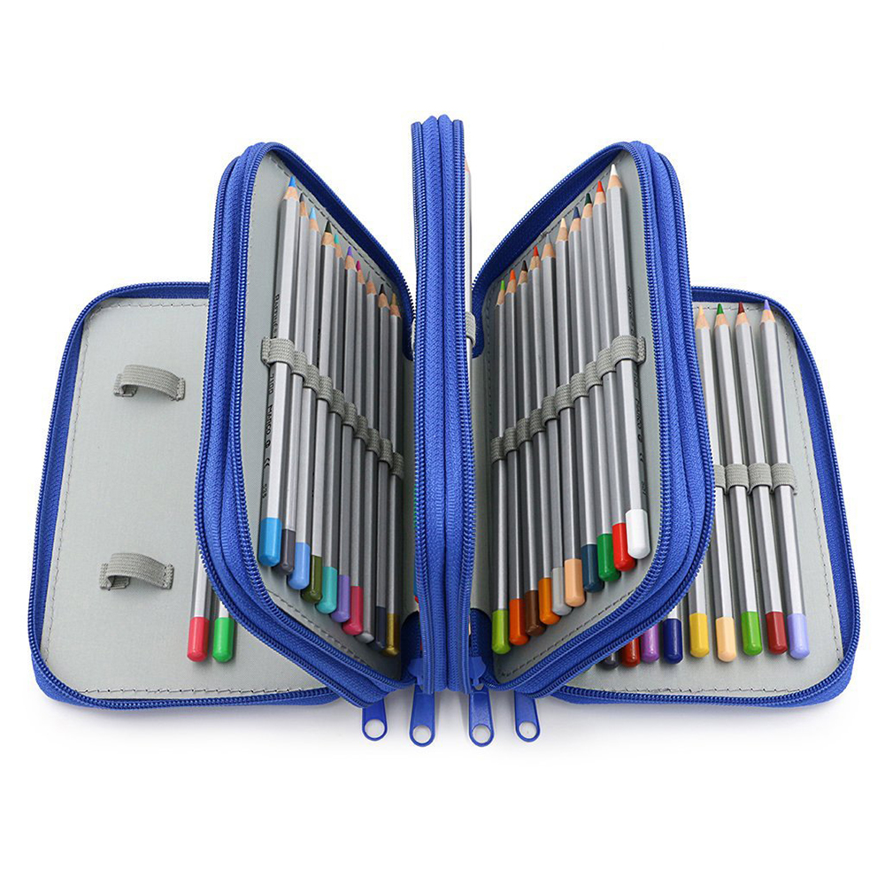72pcs Capacity Drawing Pencils Empty Bag 4th Floor Pencil Case Organiztion School Office 72 Holes For Pens Pencilcase Stationery