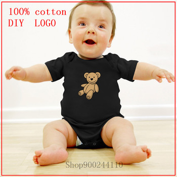 New fashion Summer Unisex Baby Clothes Teddy bear new born baby boy clothes 3 to 6 months Design 100%Cotton Rompers Costumes image