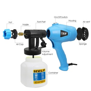 Image 4 - TASP Electric Spray Gun 400W HVLP Paint Sprayer Compressor Flow Control Airbrush Power Tools Easy Spraying & Clean 120V/230V