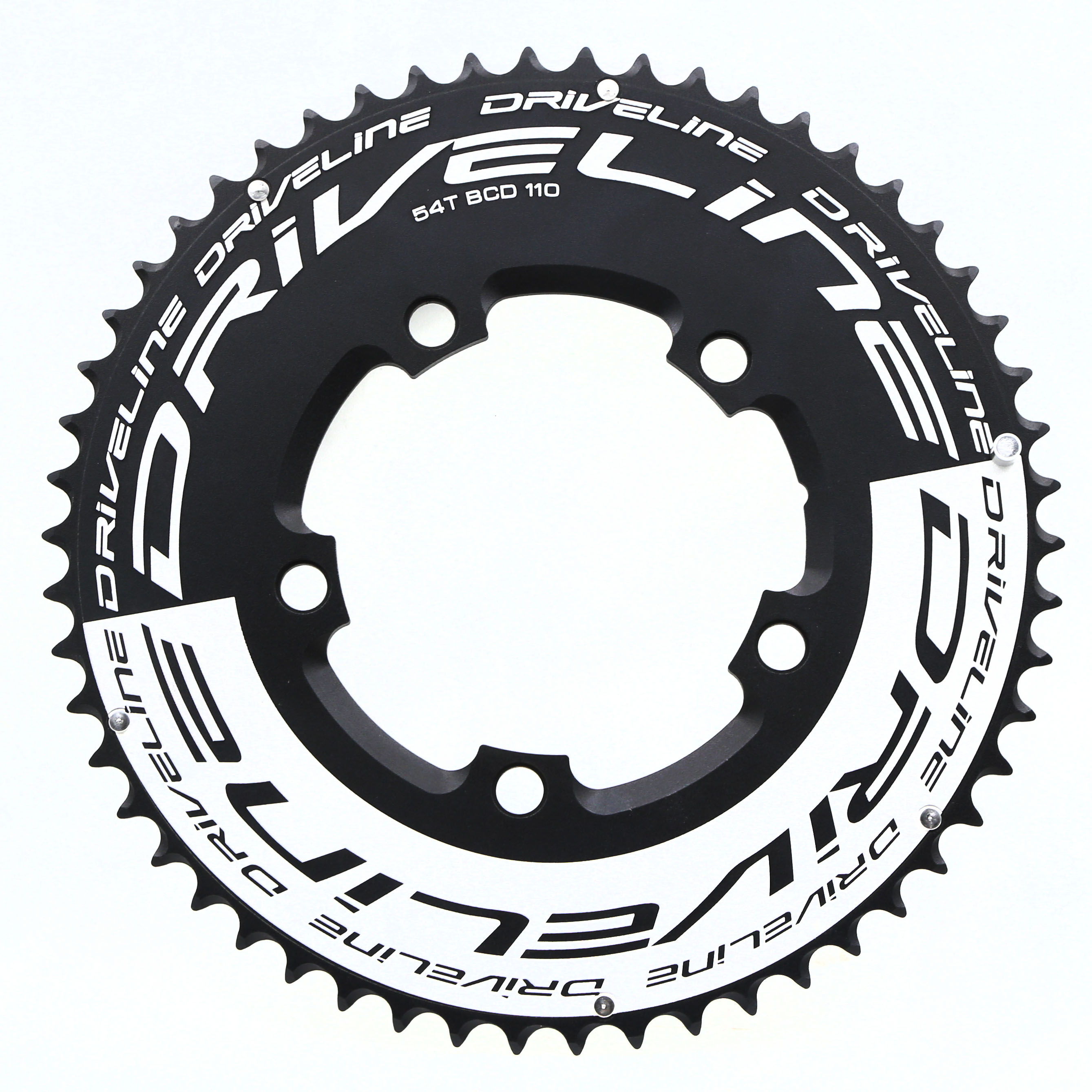 Black BCD 130mm 106g Driveline CNC 7075 Alloy Chainring 53T