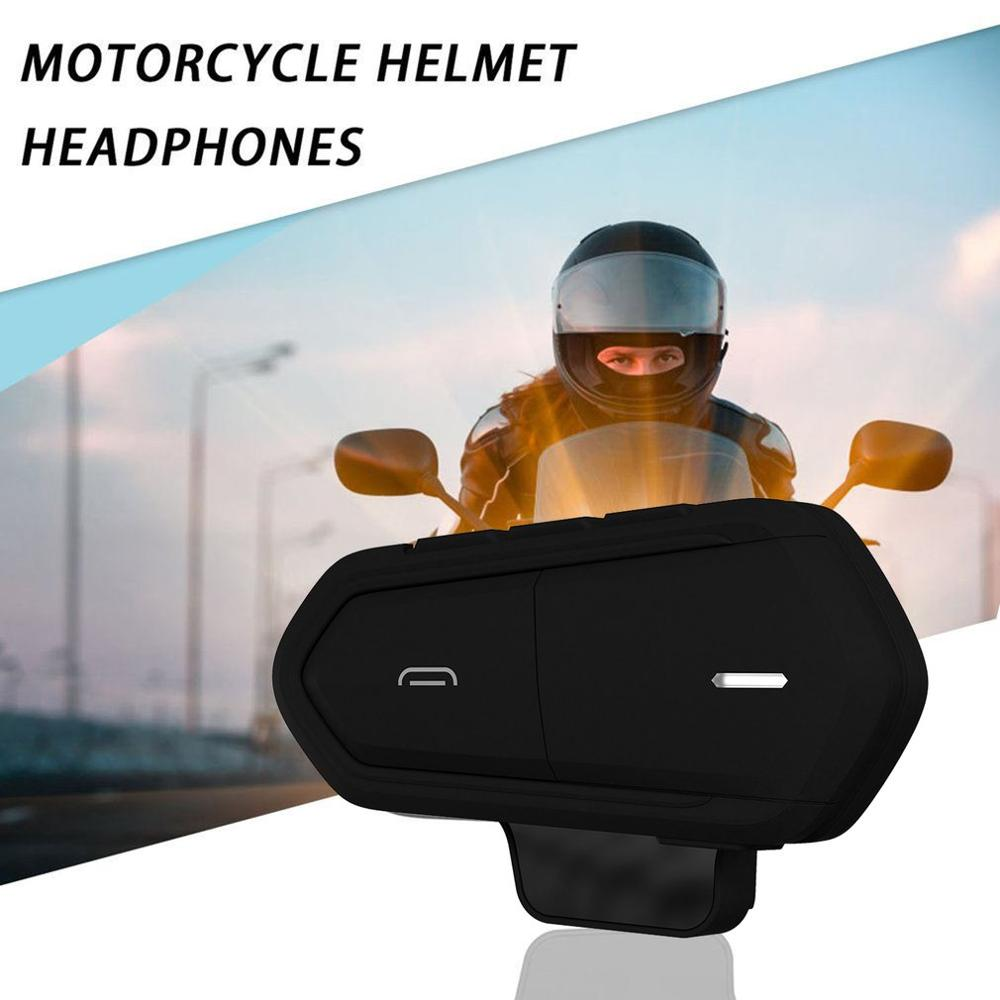 1Pcs Motorcycle Helmet Walkie-Talkie Helmet Walkie-Talkie Wireless Walkie-Talkie Motorcycle Walkie-Talkie Headset Fm Radio