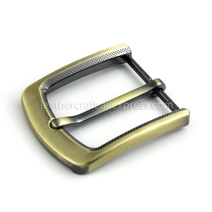 Image 5 - 1Pcs 35Mm Metalen Plating Gesp Mannen End Bar Hak Bar Enkele Pin Riem Half Gesp Lederen Craft riem Voor 32 34Mm Riem