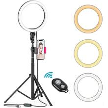 8 Inch Selfie Ring Light dengan 51 Inch Tripod Berdiri Pemegang Telepon Remote Control untuk Live Streaming YouTube Video Diammable pencahayaan(China)