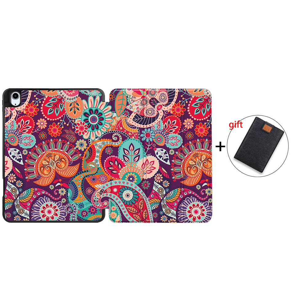 IPBC20 Rose Red MTT Tablet Case For iPad Air 4th Generation 10 9 inch Soft TPU PU Leather Flip