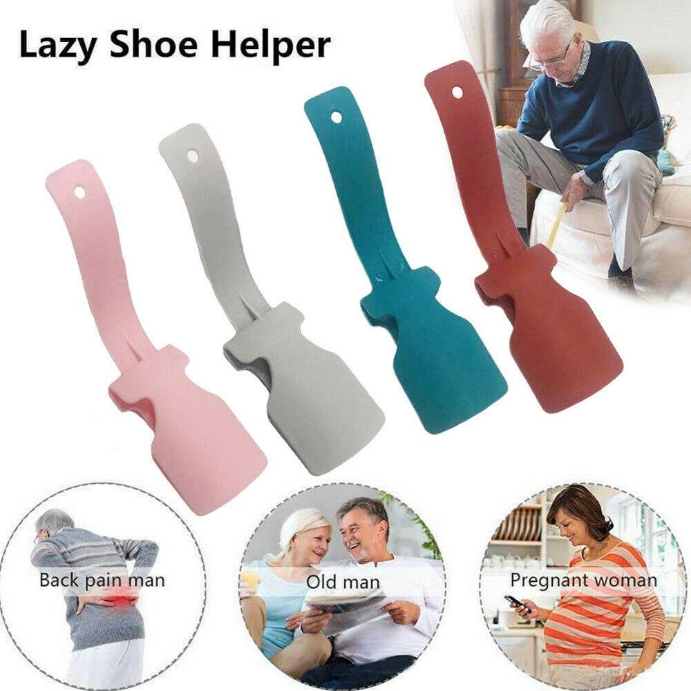 2 PCS Lazy Shoe Helper Unisex Handled Shoe Horn Easy on Off Shoe Lifting Helper