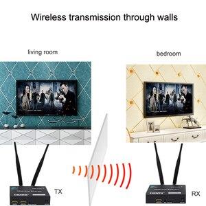 Image 4 - 5GHz Senza Fili di Trasmissione HDMI Extender Trasmettitore Ricevitore Video Converter 100M 200M Wireless Wifi HDMI Sender DVD PC per TV