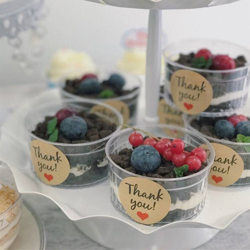 30 Pcs Mousses Dessert Cup Clear Pudding Cake Cup Party Accessories Wedding Supplies Disposable Plastic Tableware