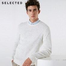 SELECTED Mens Casual Pullover Sweater cuello redondo nueva 100% de algodón de manga larga de punto ropa C