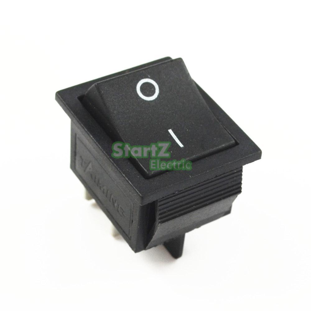 Фиксации кулисный переключатель Мощность переключатель I/O 4 контакта с светильник 16A 250VAC 20A 125VAC KCD4 - Цвет: Черный