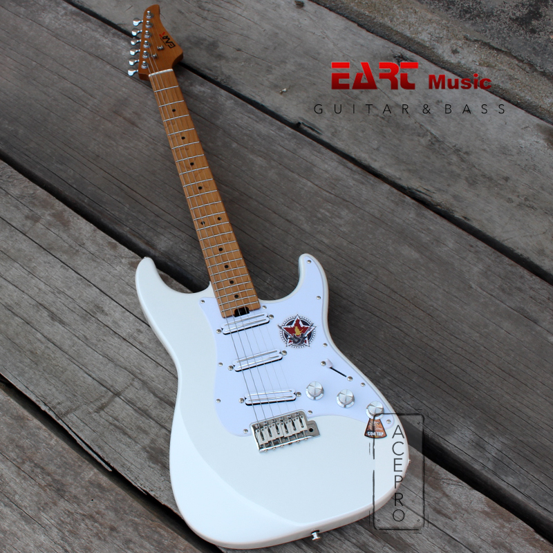 Right Handed-Carbon Grilled Maple Fingerboard Beginner Hard Tail Electric Guitar Sunburst EART 6 String Solid-Body Electric Guitar
