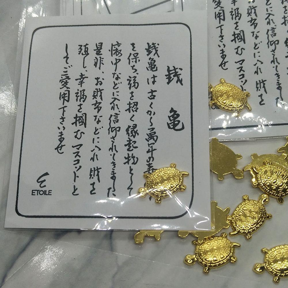 Money Turtle Small Golden Turtle Money Clip Mascot Lucky Charm Trinkets Money Turtle 40FP15