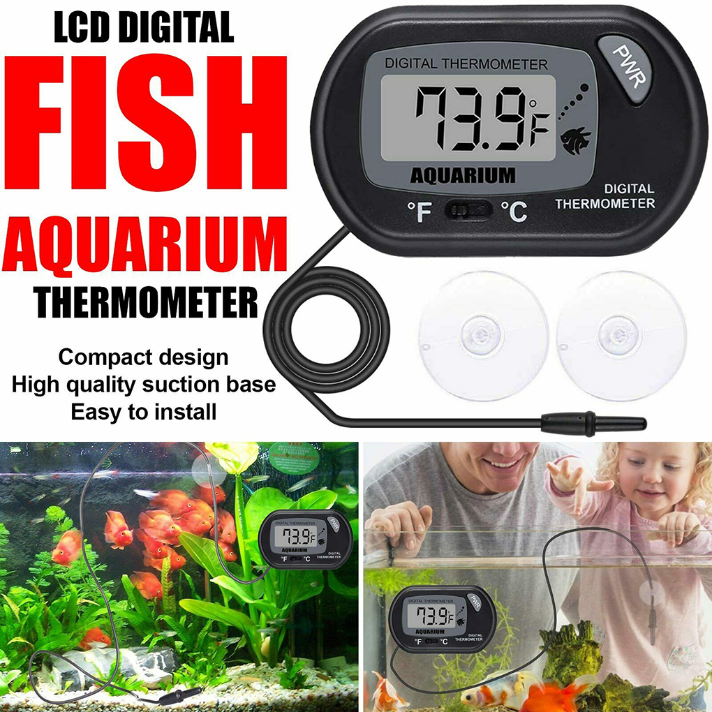 LCD Digital Aquarium Thermometer Fish Tank Water Temperature Meter Aquarium Temp Detector