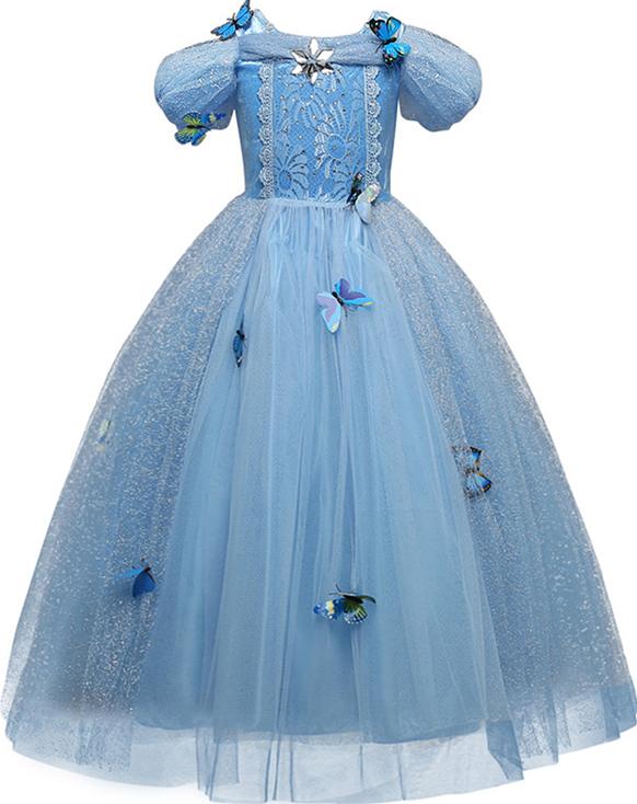 Girls Princess Costume Kids Halloween Cosplay Party Dress Children Christmas Dress Up Robe Fille 6