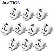 AUKTION 10Pcs/Lot Universal EU Plug Adapter 16A Electrical Plug Converter AC 250V Travel Charger Wall Power Adapter For US UK AU