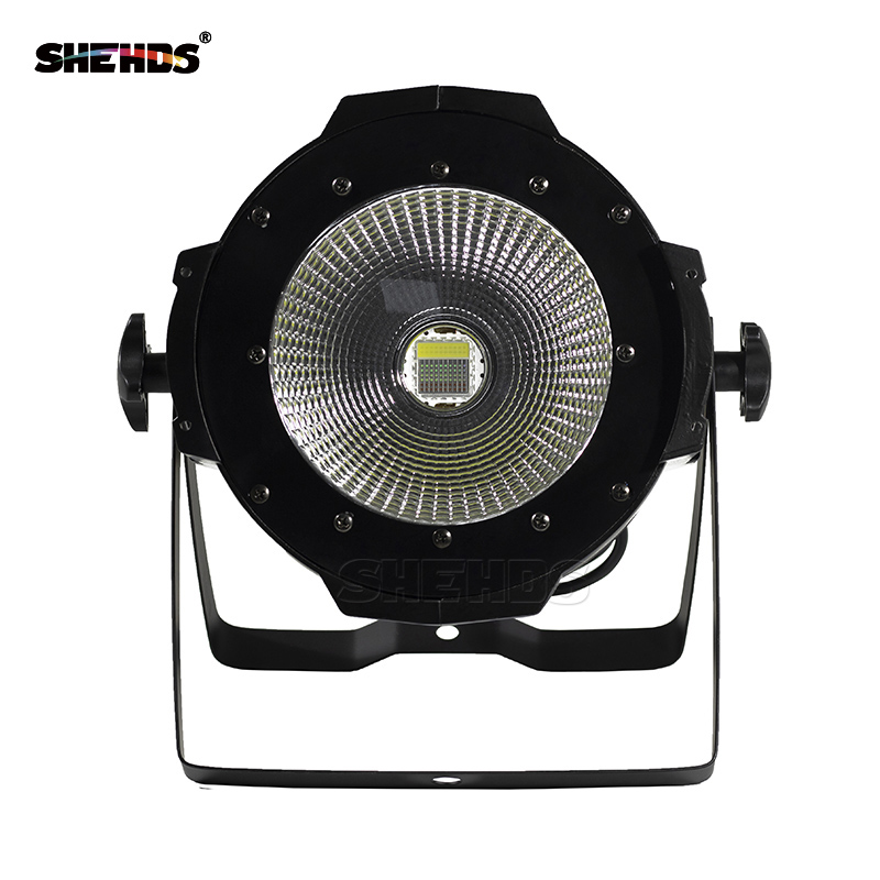 SHEHDS Latest  LED Par COB 100W With Barn Door High Power Aluminium Case Stage Lighting With 100W COB 4IN1 RGBW/5IN1/6IN1RBGEAUV