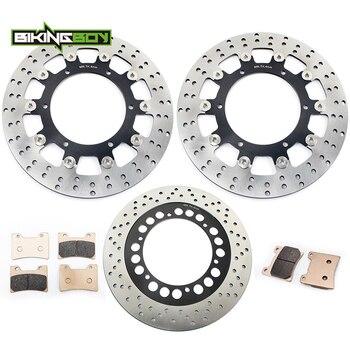 BIKINGBOY Front Rear Brake Discs Rotors Disks Pads for Yamaha VMX 12 V-Max 1200 93 94 95 96 97 98 99 00 01 02 03 04 05 06 07 Set